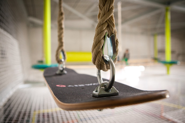 Parcours acrobatique suspendu